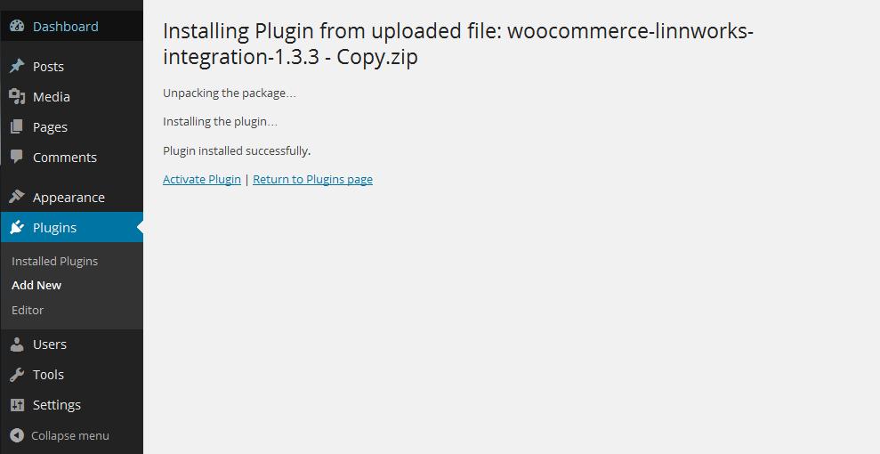 Plugin Installed