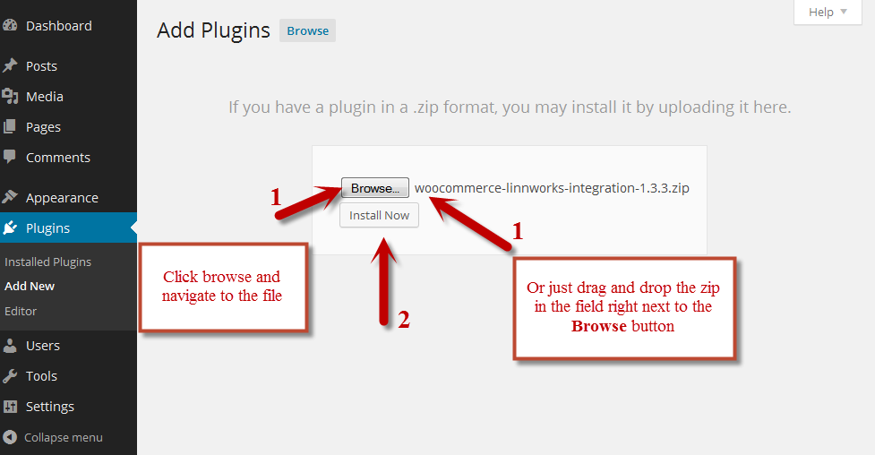 Upload and Install the Plugin